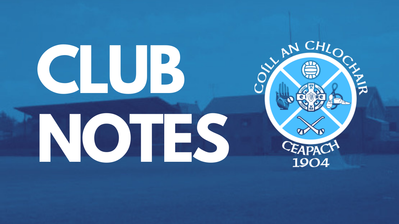 Club Notes: October 14th