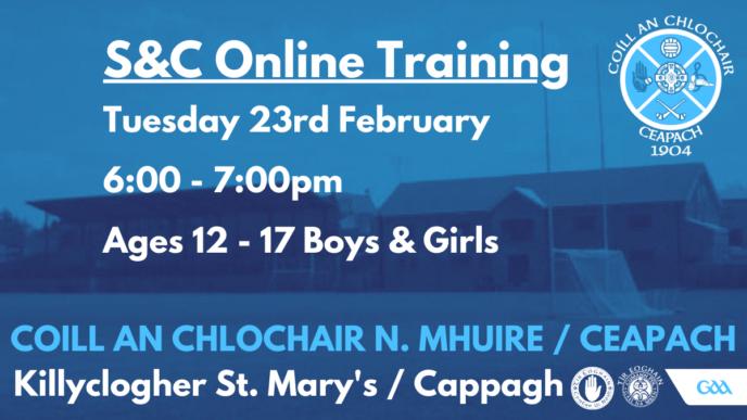 Remote Online S&C Training