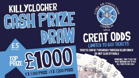 CASH PRIZE DRAW – THIS MONDAY LIVE AT 9:00PM
