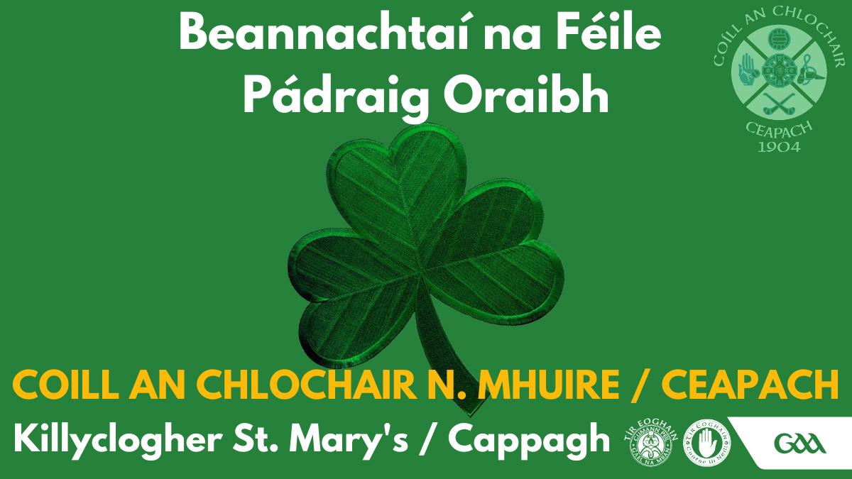Beannachtaí na Féile Pádraig Oraibh