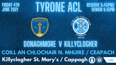 Reserve & Seniors Away To Donaghmore This Evening