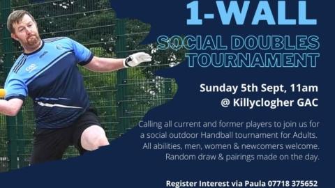 1-Wall Handball Social Doubles Tournament