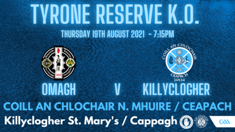 Reserves In Knock Out Semi Final Tonight