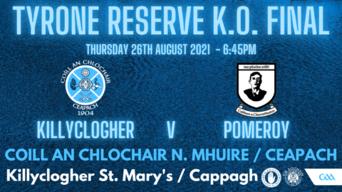 Reserves In County Final This Evening